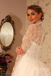 Prenses Kate Model  Dantelli Gelinlik Modelleri