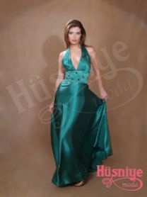 evening dresses   model, satin one-piece neck h dark bluish green color evening dress, .   Decollete upon request people may be turned off .